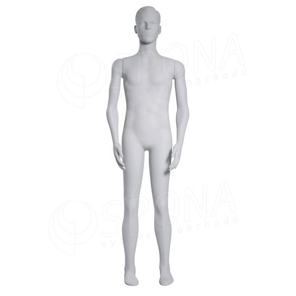 Figurína pánská FLEXIBLE, prolis, bílá, plast