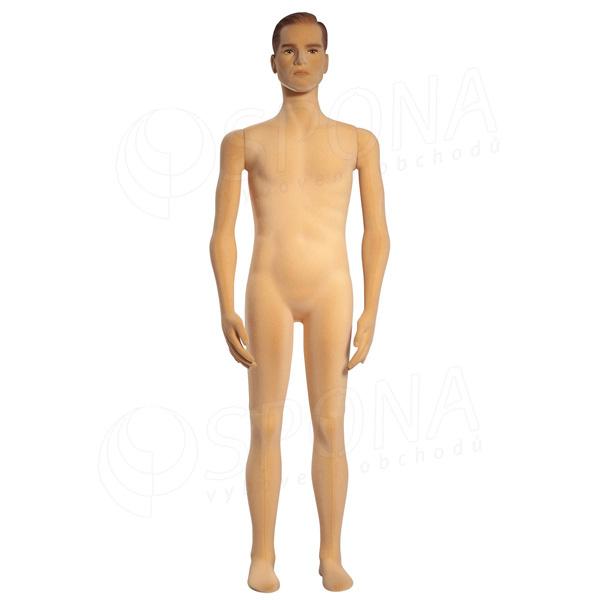 Figurína pánská FLEXIBLE, prolis, makeup, tělová, flokovaná