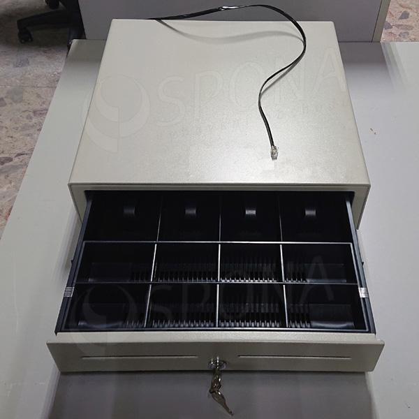 Pokladní zásuvka EC 410, 4B/8M, béžová, kov