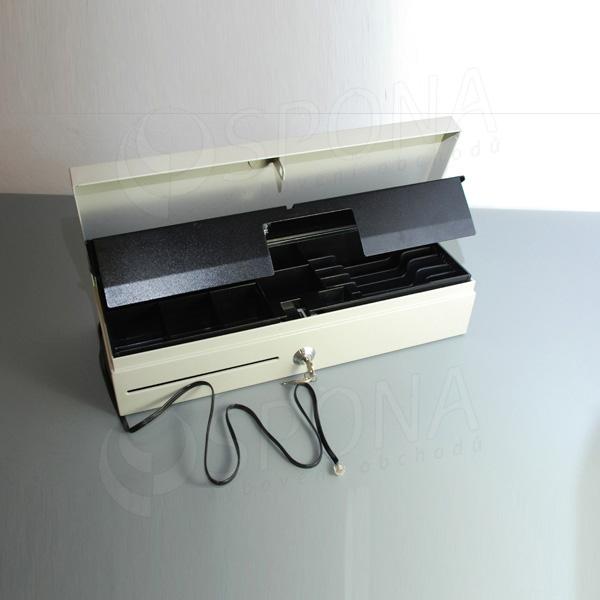 Pokladní zásuvka FLIP TOP, 6B/8M, béžová, kov
