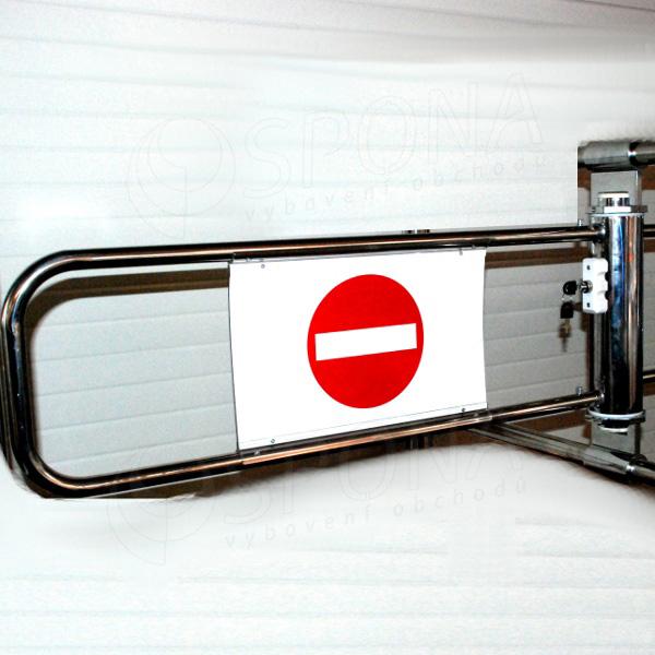 ALKAFIX pokladní závora (bez hrazení), 90 cm, chrom