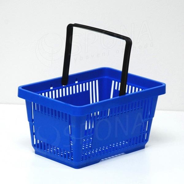 Košík nákupní, modrý, plast