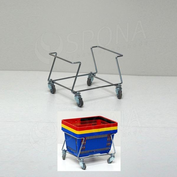Vozík pro nákupní košíky pojízdný, nízký