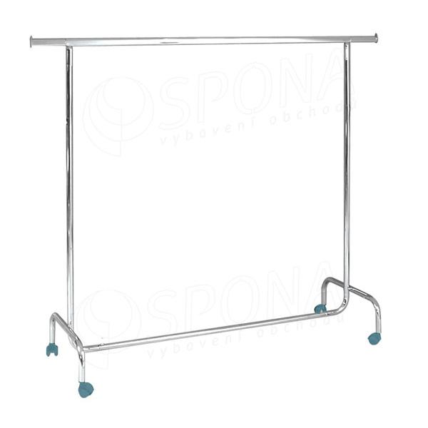 Štendr PROMO 1001, výška 150 cm, šířka 150-220 cm, plastová kolečka