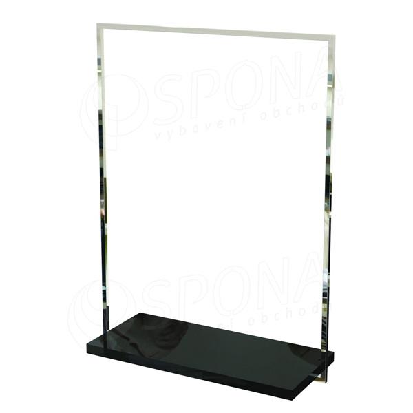 CUADRO 110, štendr 1000 x 1450 mm, černá deska, chrom