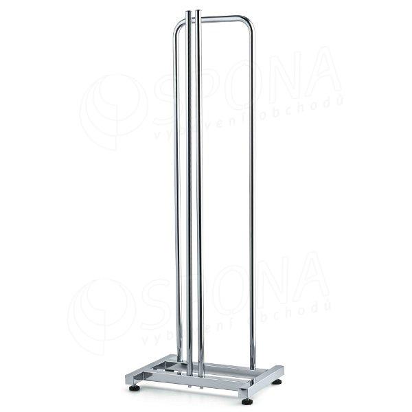 Stohovač ramínek, výška 96 cm, šířka 35 cm, chrom