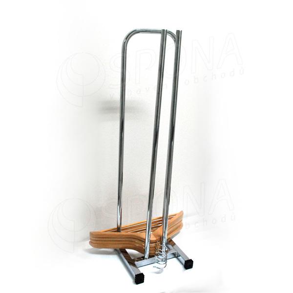Stohovač ramínek, výška 88,5 cm, šířka 24,5 cm, 2 kolečka, chrom