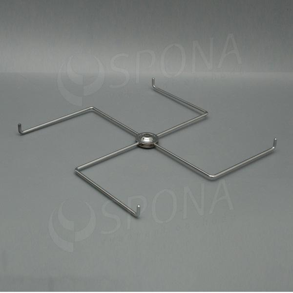 Stojánek na stůl, kříž šířky 300 mm, 4 ramena, chrom