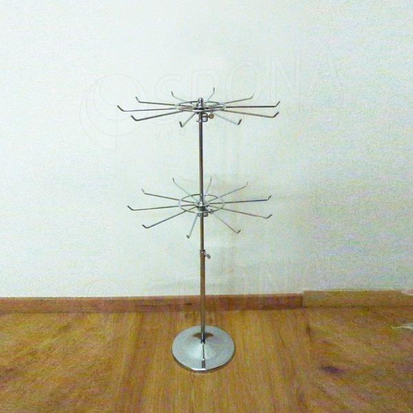 Stojánek na stůl sada, podstavec + 2 x kolotoč průměr 330 mm, chrom