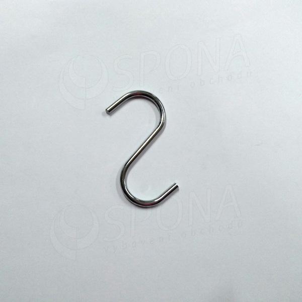 "Háček ""S"" velikost 25, chrom"