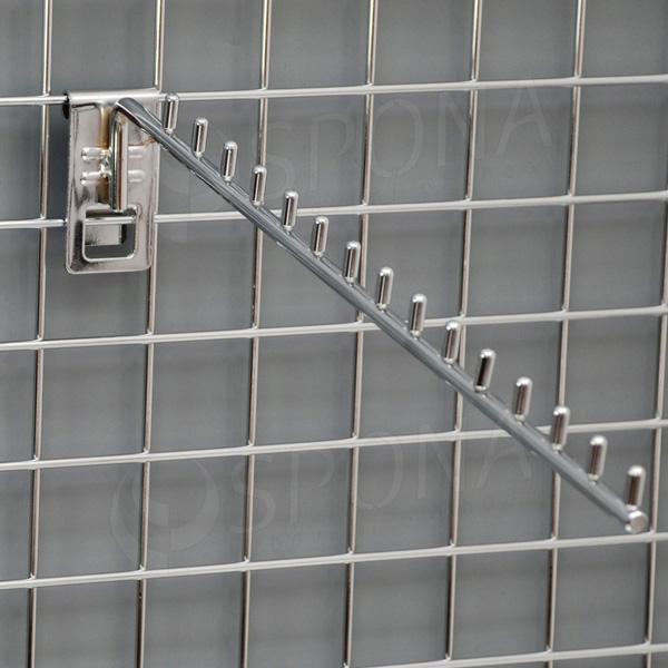 SÍŤ 5 vodopád úzký, 15 kolíčků, délka 420 mm, chrom
