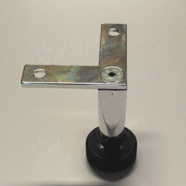 PRIMO 25, noha s výztuhou, délka 100 mm, chrom