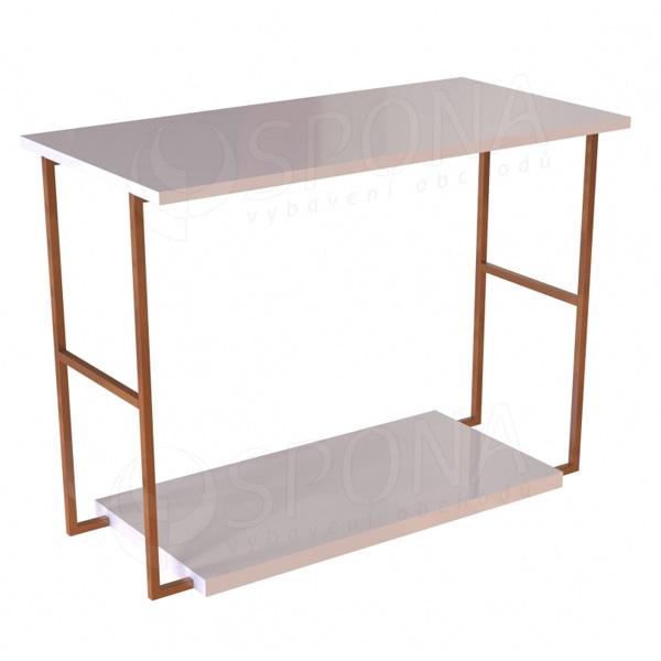 CUADRO 400, stolek výstavní komplet, 120 x 90 x 40 cm, šedé a bílé LTD