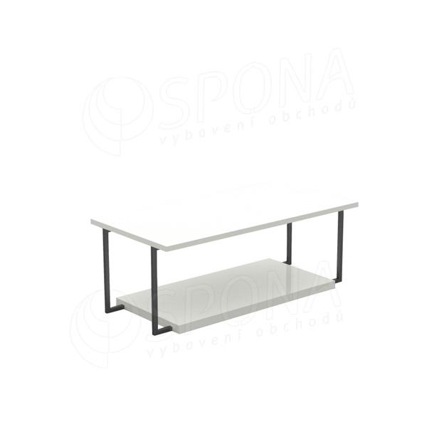 CUADRO 401, stolek výstavní komplet, 120 x 60 x 45 cm, šedé a bílé LTD