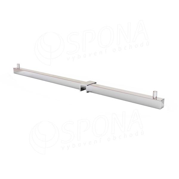 CUADRO 9662, rovné rameno 420 mm pro profil 15 x 15 mm, chrom