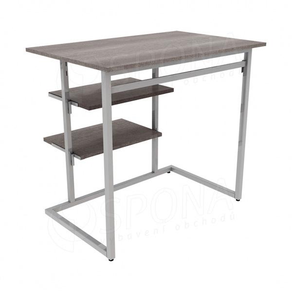 TRIPLO 9381B KIT stolek s policemi, 90 x 60 cm, výška 90 cm, matná šedá