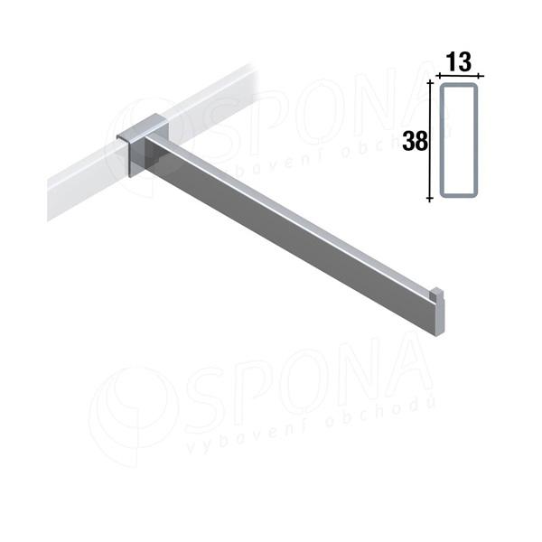 ARKSYS rovné rameno na profil 38 x 13 mm, délka 400 mm, satin