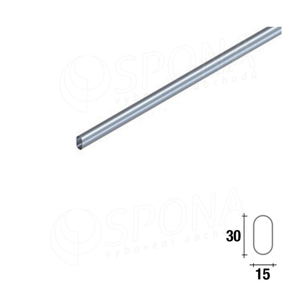 ARKSYS oválná trubka 2400 mm, satin