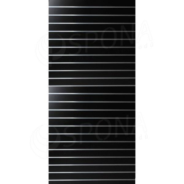 SLAT panel 120 x 240 cm, 23 drážek v rozteči 10 cm, bez insertů, černý