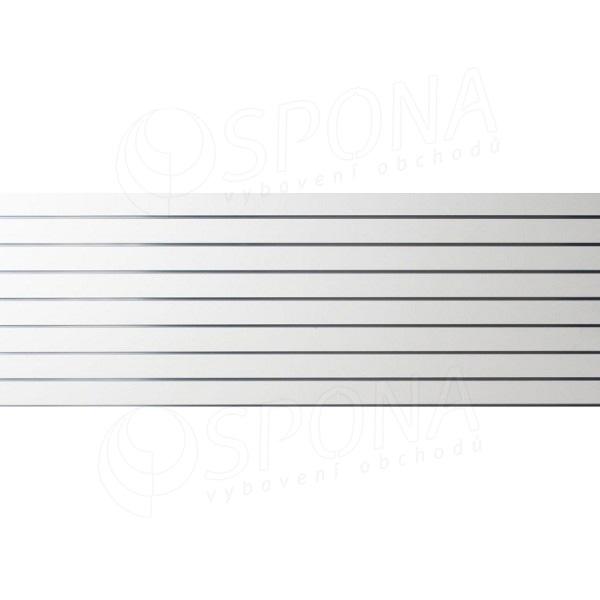 SLAT panel 240 x 90 cm, 8 drážek v rozteči 10 cm, bez insertů, bílý