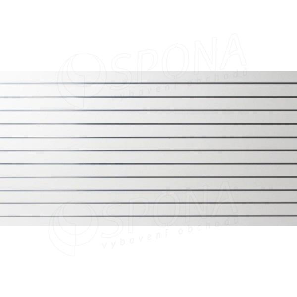 SLAT panel 240 x 120 cm, 11 drážek v rozteči 10 cm, bez insertů, bílý