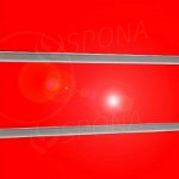 SLAT panel 240 x 120 cm, rozteč 10 cm, terminal, bez insertů, vysoký lesk červený