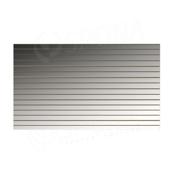 SLAT panel 240 x 120 cm, 11 drážek v rozteči 10 cm, bez insertů, akrylátové zrcadlo (mirror)