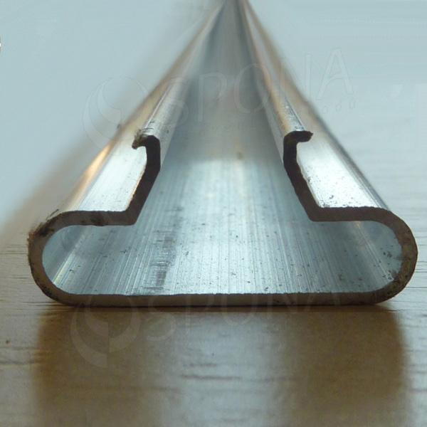 SLAT insert T - ALU 1 mm, 240 cm, zakulacený