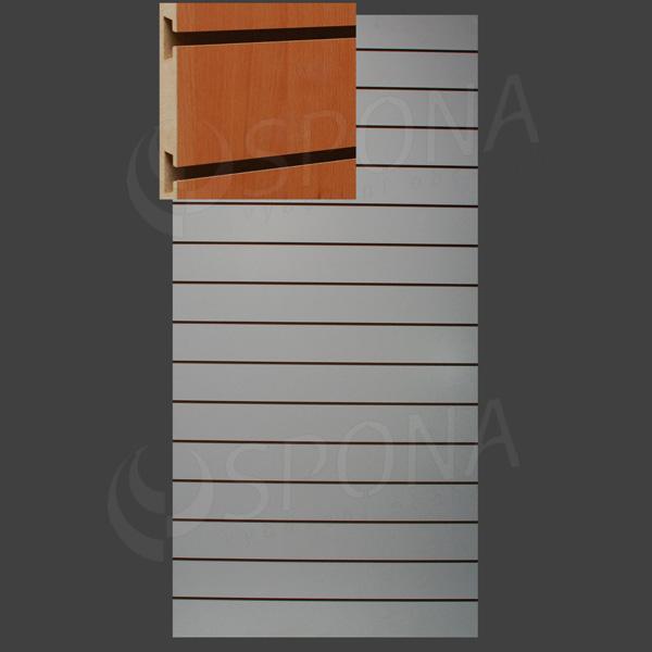 SLAT ART panel 120 x 240 cm, 15 drážek v rozteči 15 cm, bez insertů, buk (fagio)