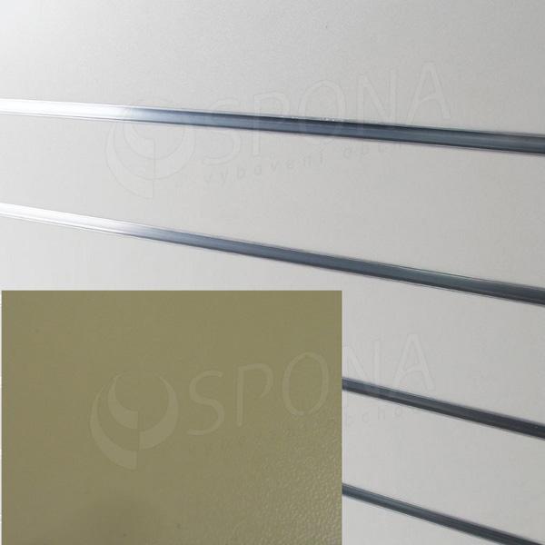 SLAT ARK panel 120 x 240 cm, 11 drážek v rozteči 20 cm, bez insertů, světle krémový