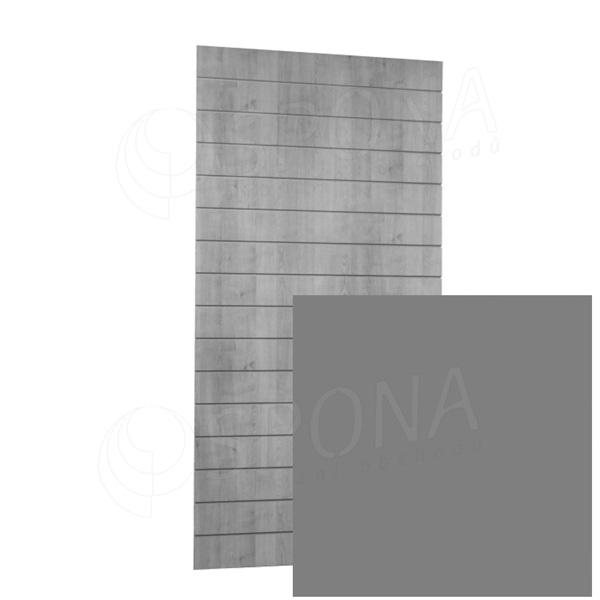 SLAT ARK panel 120 x 240 cm, 15 drážek v rozteči 15 cm, bez insertů, stříbrný AL