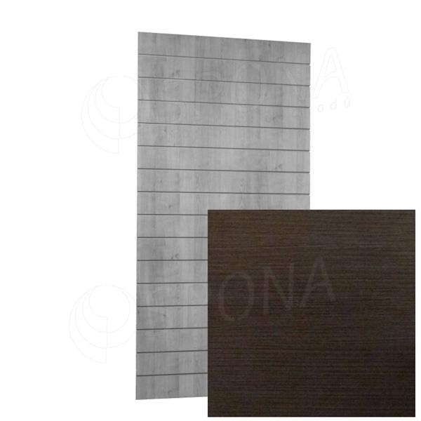 SLAT ARK panel 120 x 240 cm, 15 drážek v rozteči 15 cm, bez insertů, wenge 3D
