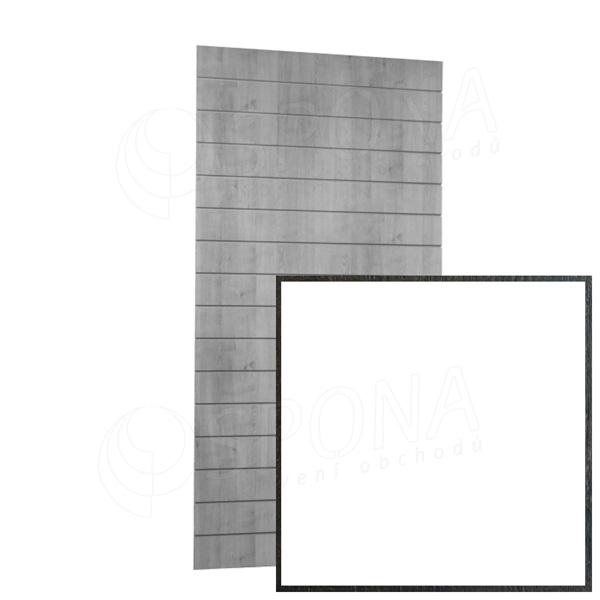 SLAT ARK panel 120 x 240 cm, 11 drážek v rozteči 20 cm, bez insertů, bílý