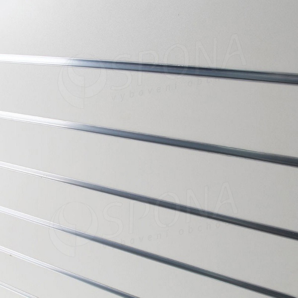SLAT DREAM panel 120,5 x 122 cm, 11 drážek v rozteči 10 cm, bez insertů, bílý (white)