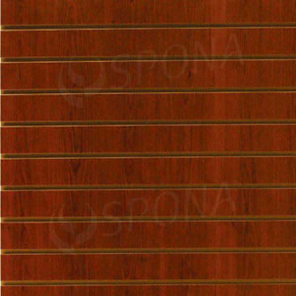 SLAT DREAM panel 120,5 x 122 cm, 7 drážek v rozteči 15 cm, bez insertů, třešeň (cherry)