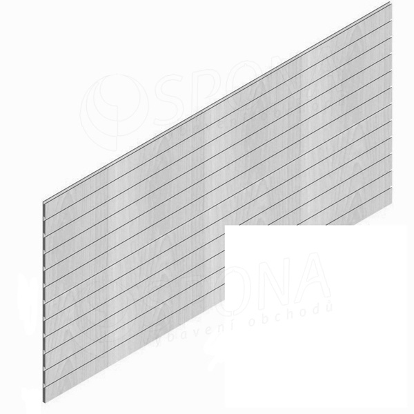 SLAT panel PROMO 244 x 122 cm, 7 drážek v rozteči 15 cm, bez insertů, bílý (white)