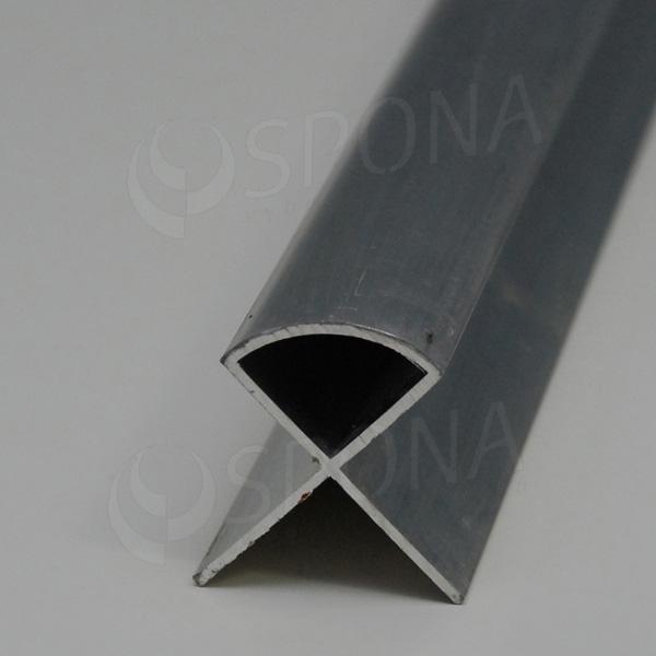 SLAT profil, rohový oblý spoj 250 cm, hliník