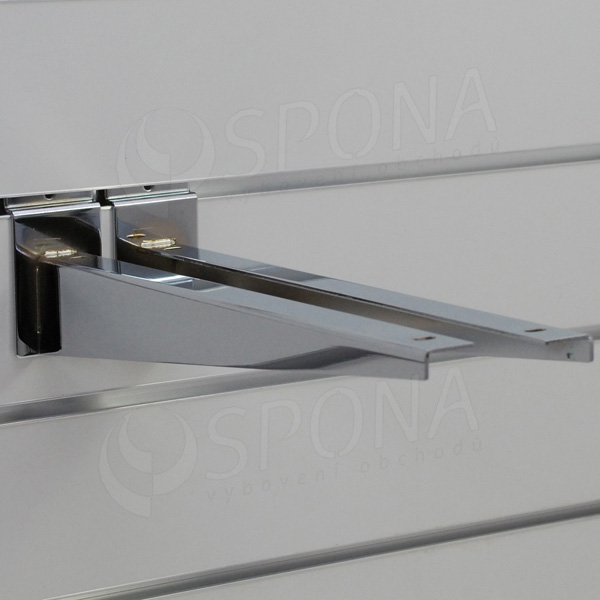 SLAT konzole koncová 350 mm, pár, chrom