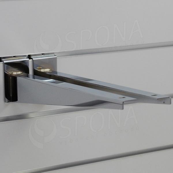 SLAT konzole koncová 300 mm, pár, chrom