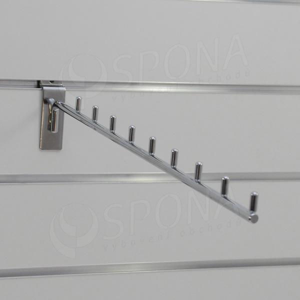 SLAT vodopád úzký, 9 kolíčků, délka 400 mm, sklon 5°, chrom