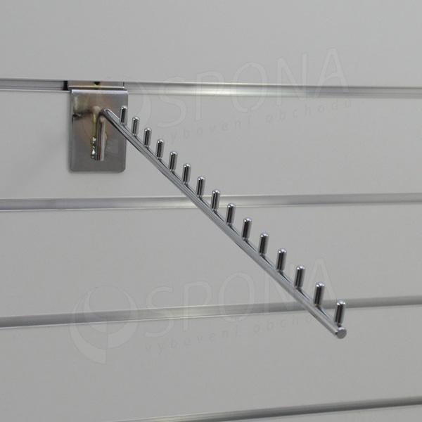 SLAT vodopád úzký, 15 kolíčků, délka 420 mm 15°, chrom