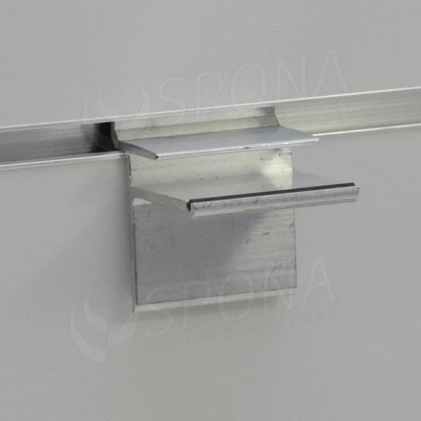 SLAT držák skleněných polic 8 x 36 mm, hliník