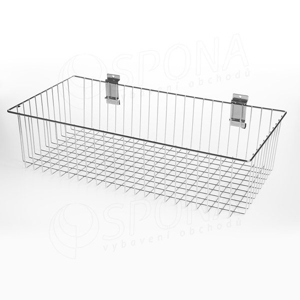 SLAT koš drátěný, 600 x 300 x 100 mm, chrom