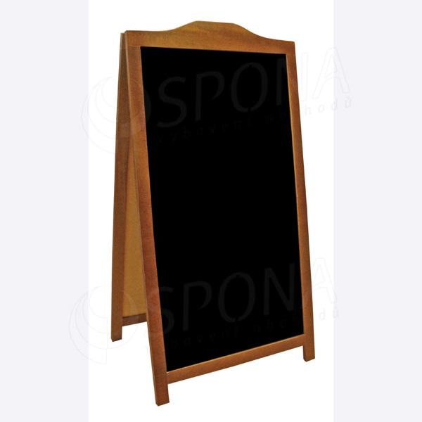 Dřevěný reklamní stojan typ 64 venkovní oboustranný 120 x 61 cm