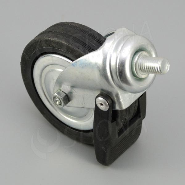 Kolečko průměr 80 mm, závit M10 x 15 mm, s brzdou, kov