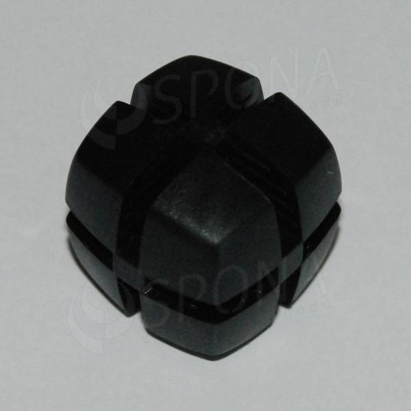 Kostka KUBIK 25 mm, pro sklo 4 mm, černá