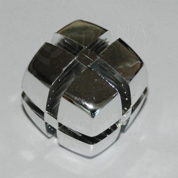 Kostka KUBIK 25 mm, pro sklo 4 mm, pochromovaná