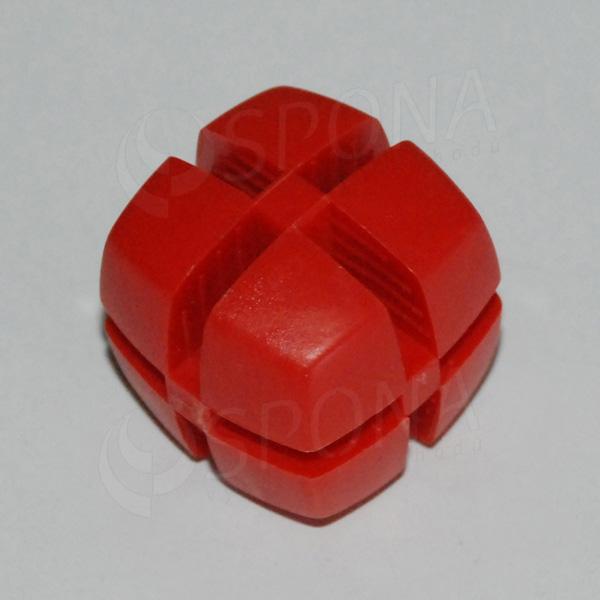 Kostka KUBIK 25 mm, pro sklo 4 mm, červená