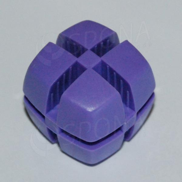 Kostka KUBIK 25 mm, pro sklo 4 mm, fialová