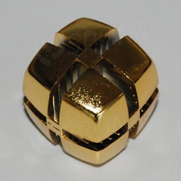 Kostka KUBIK 25 mm, pro sklo 4 mm, zlatá